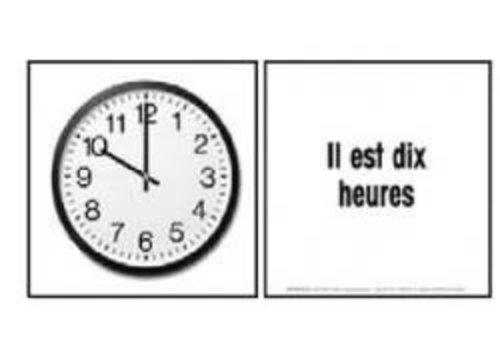 POSTER PALS Cartes Eclairs - Quelle heure est-il?