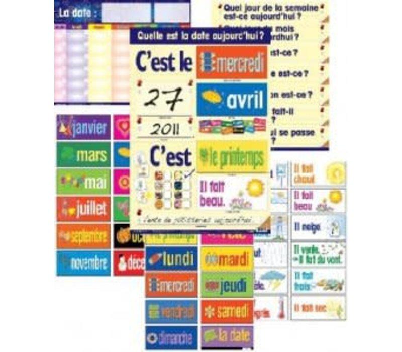 Laminated Calendar Combo Set