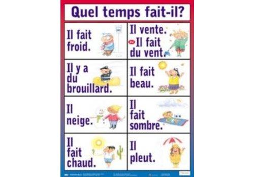 POSTER PALS Quel temp fait t'il? French Poster