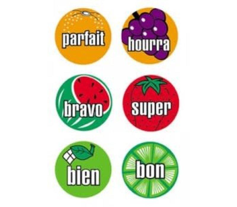 French Stickers Dessins de fruits *