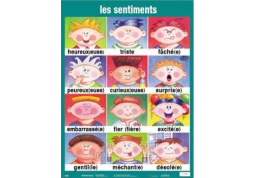 POSTER PALS Les sentiments french poster
