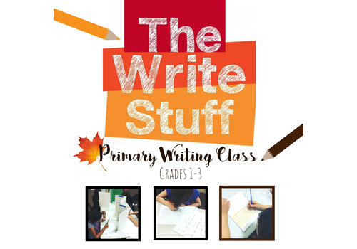 The Write Stuff, Primary Writing Class FALL Thursdays, 5:30-6:30pm