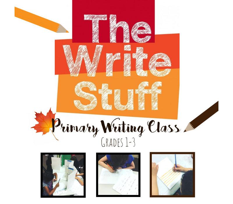 The Write Stuff, Primary Writing Class FALL Thursdays, 5:30-6:30pm