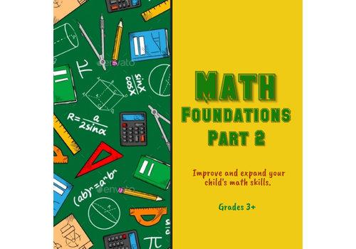 Math Foundations Part 2 WINTER Wednesdays 6:30-7:30pm
