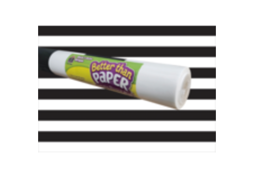 Teacher Created Resources Better than Paper - Black and White Stripes Bulletin Board Roll