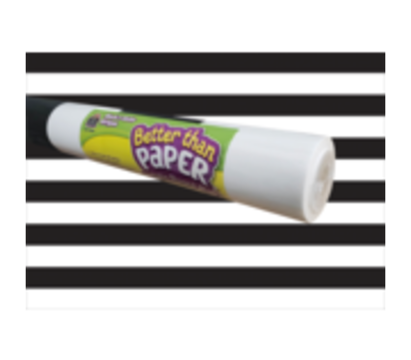 Better than Paper - Black and White Stripes Bulletin Board Roll
