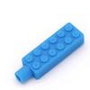 Munching Monster Lego Brick Pencil Topper - blue