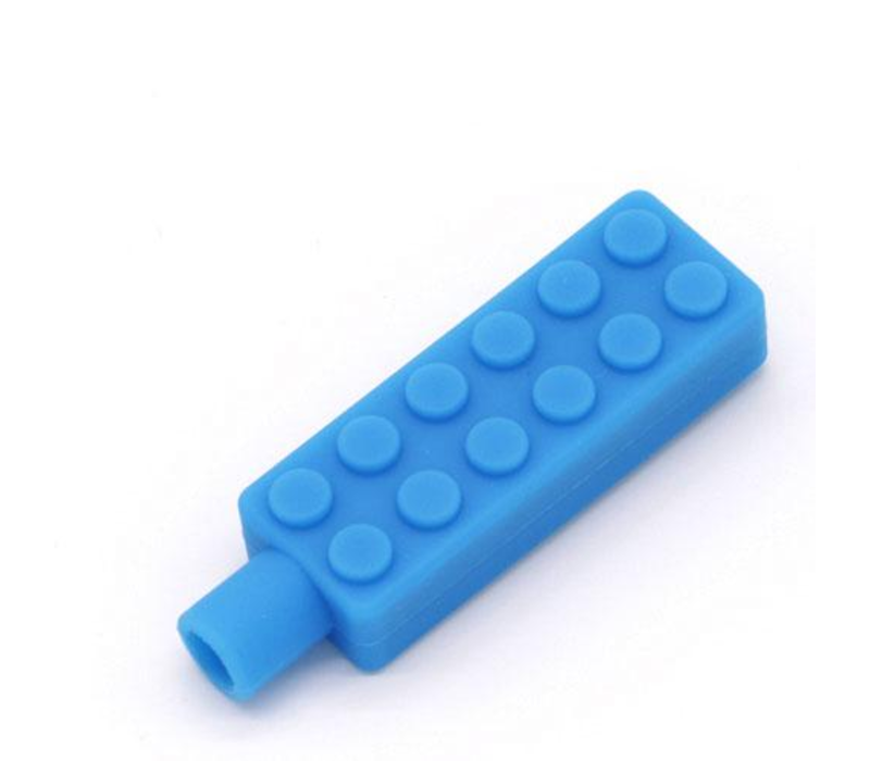 Lego Brick Pencil Topper - blue