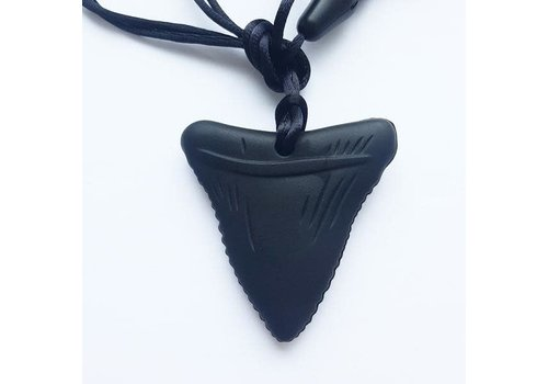 Munching Monster Shark Tooth Pendant Chewlery - Black