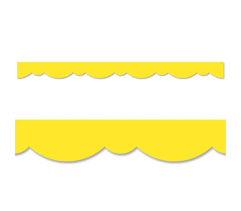 Yellow Stylish Scallops Border