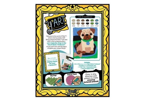 Kahootz Y'Art Craft Kit  - Pug Puppy