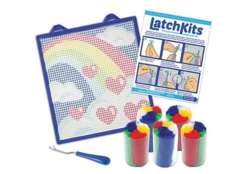 Kahootz LatchKits™ Rainbow Latch Hook Kit
