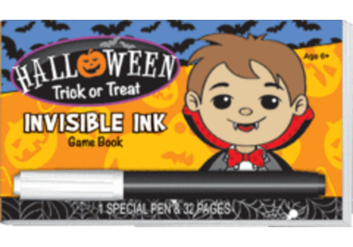 Lee Publications Halloween Trick or Treat Invisible Ink Game Book