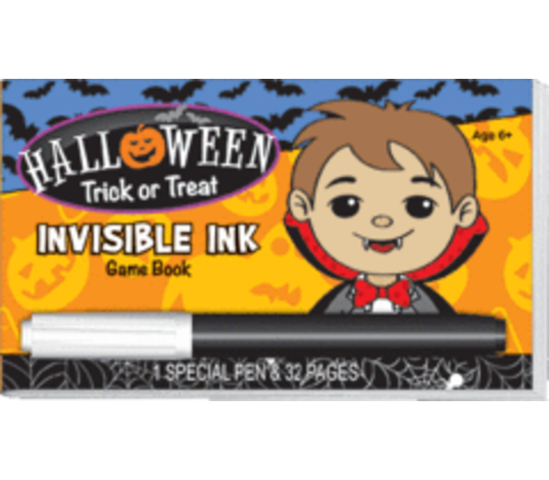 Halloween Trick or Treat Invisible Ink Game Book