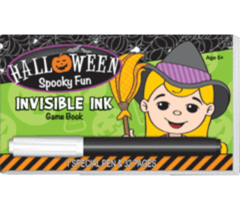 Halloween Spooky Fun Invisible Ink Game Book