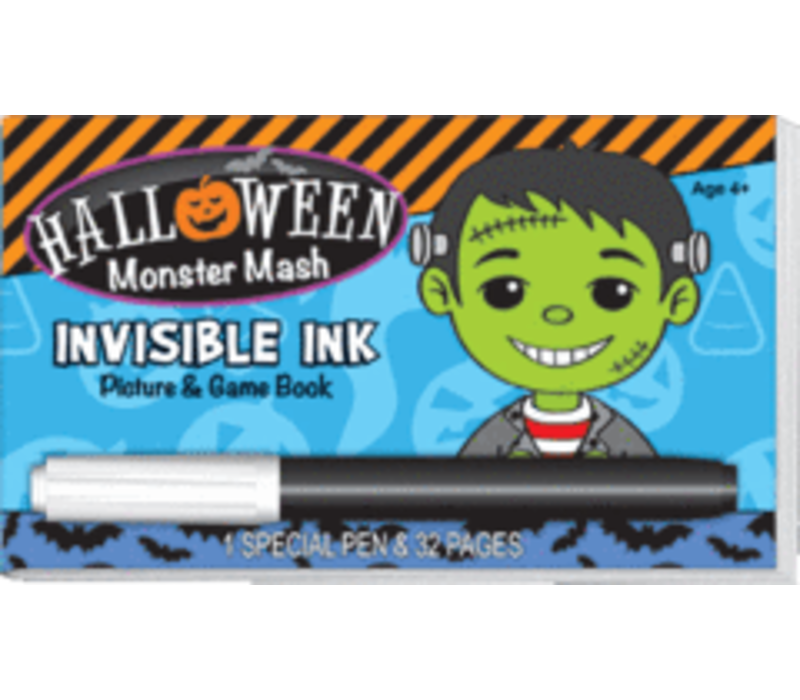 Halloween Monster Mash Invisible Ink Game Book