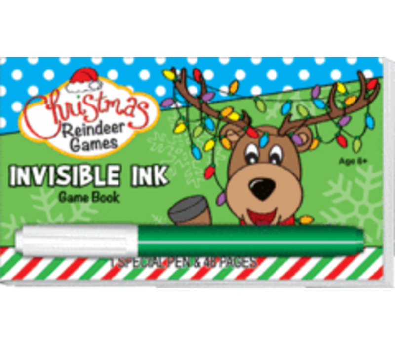 Reindeer Games Invisible Ink Book