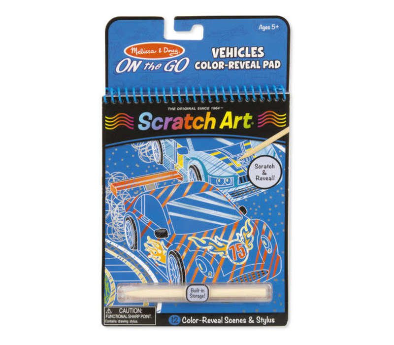 Vehicles Scratch Art