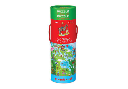 Crocodile Creek Canada 200-piece Puzzle & Poster Set
