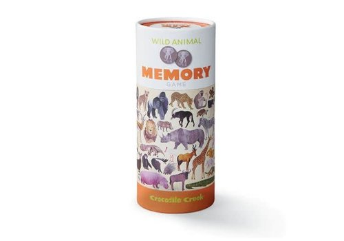Crocodile Creek Wild Animals Memory Game, 72 pieces