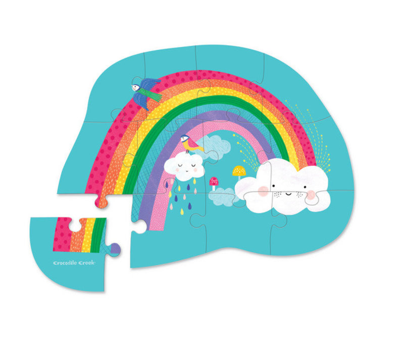12 pc Mini Puzzle/ Rainbow NEW!
