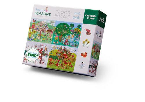 Crocodile Creek 24 pc Four Seasons Floor Puzzle