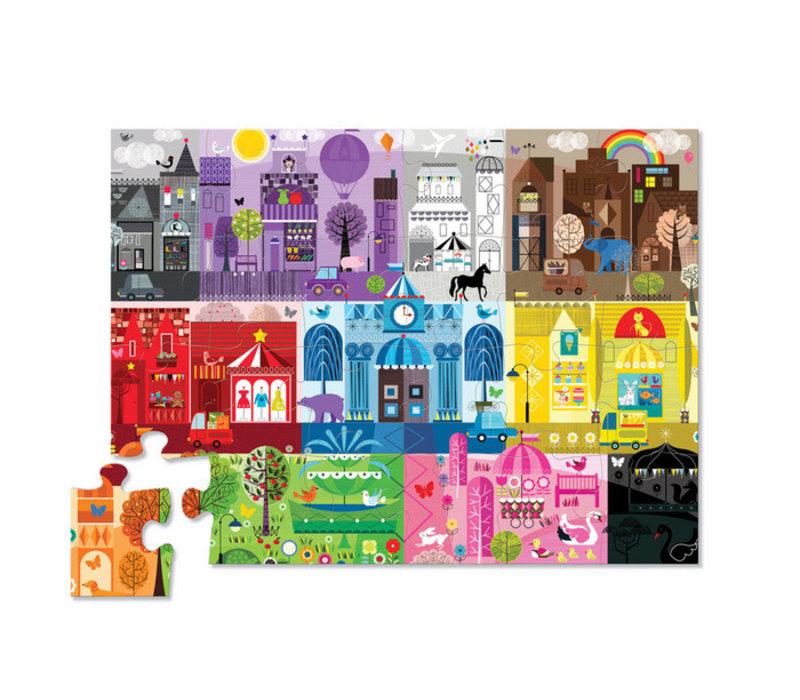 24 pc Color City Floor Puzzle