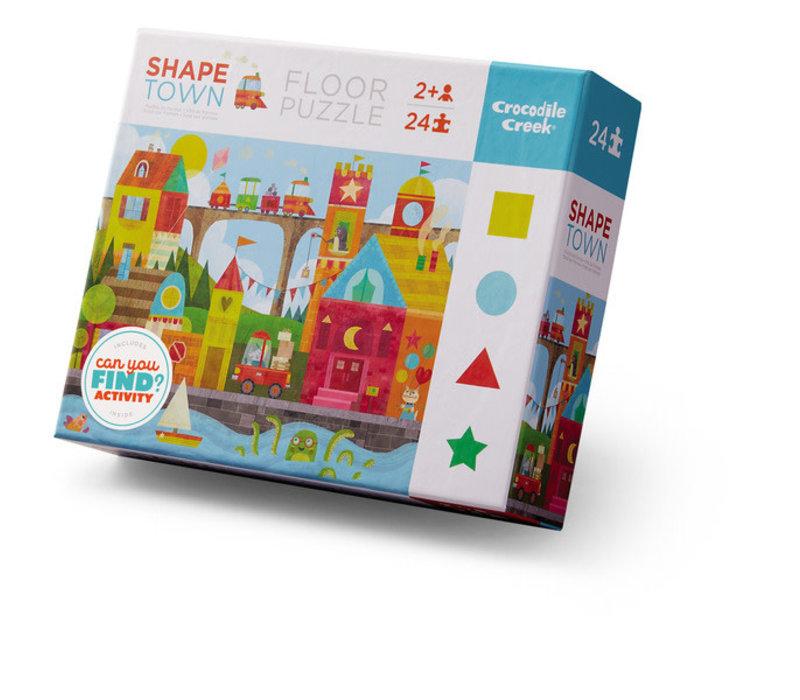 24 pc  Shape Town Floor Puzzle