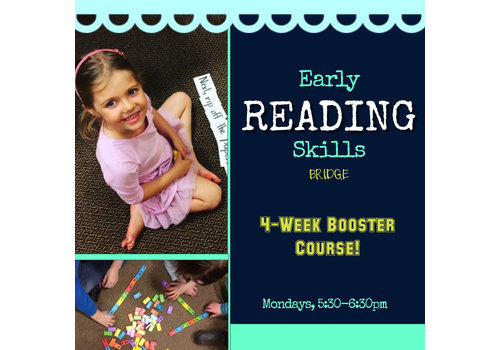 LEARNING TREE Early Reading Skills Bridge BOOSTER, Mondays 5:30-6:30pm