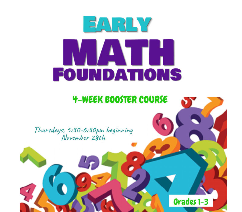 Early Math BOOSTER, Thursdays 5:30-6:30pm