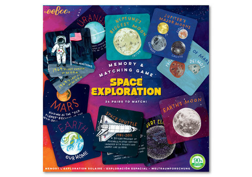 Eeboo Space Exploration Memory & Matching Game