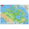ASHLEY PRODUCTIONS Learning Mat Map of Canada