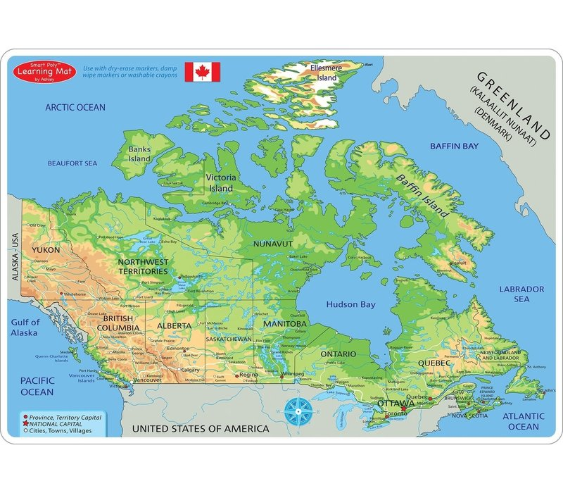Learning Mat Map of Canada