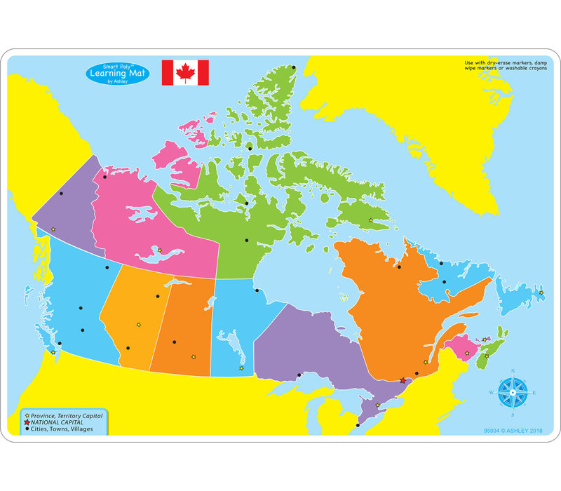 Learning Mat Map of Canada Basic *