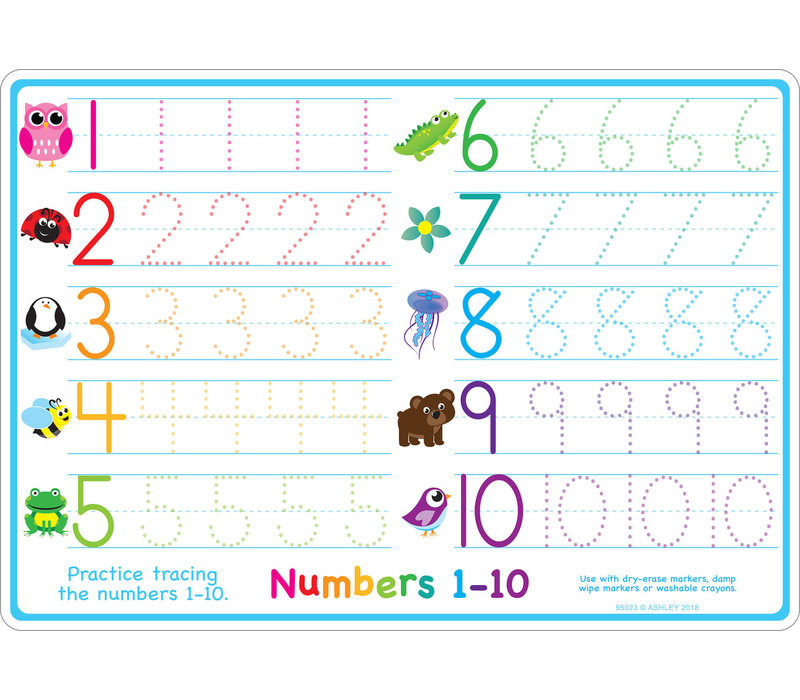 Learning Mat Numbers 1-10 *