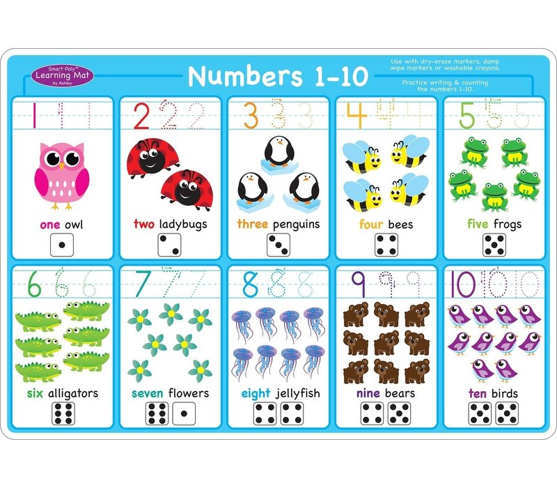 Learning Mat Numbers 1-10