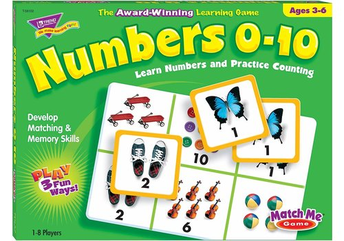Trend Enterprises Numbers 0-10 - Match Me Game *