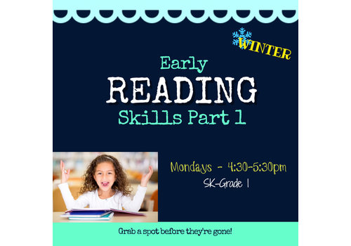 Early Reading Skills  - Part 1 WINTER Mondays, 4:30-5:30pm