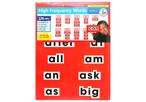 Scholatic USA High Frequency Word Wall Words - LEVEL 1 Red