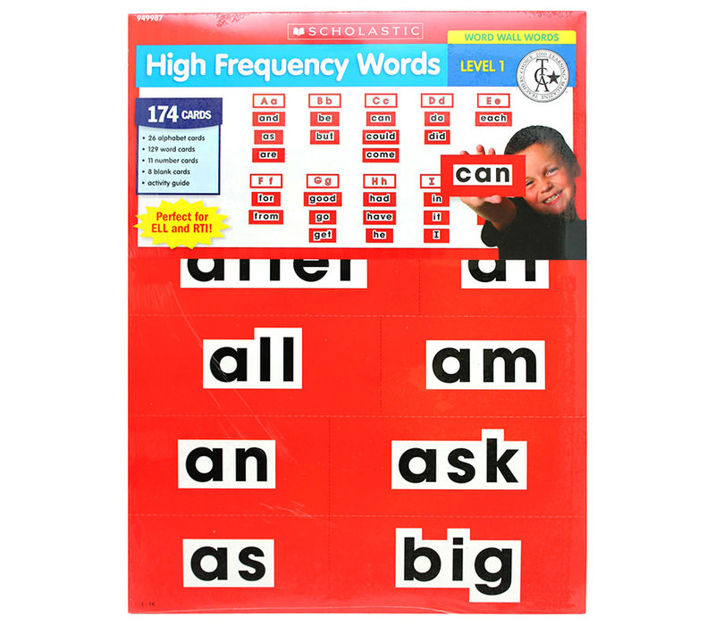 High Frequency Word Wall Words - LEVEL 1 Red
