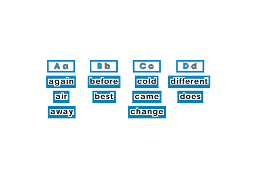Scholatic USA High Frequency Word Wall Words - LEVEL 2 Blue