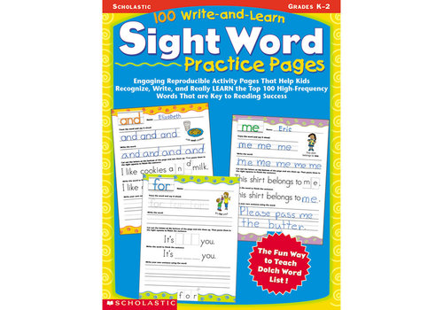 Scholatic USA 100 Write & Learn Sight Word Practice Pages *