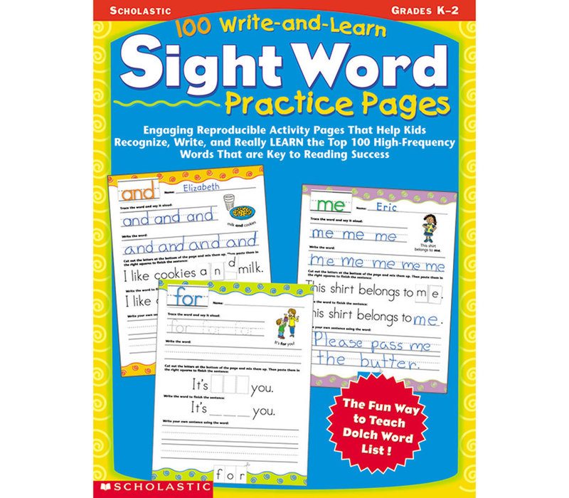 100 Write & Learn Sight Word Practice Pages *