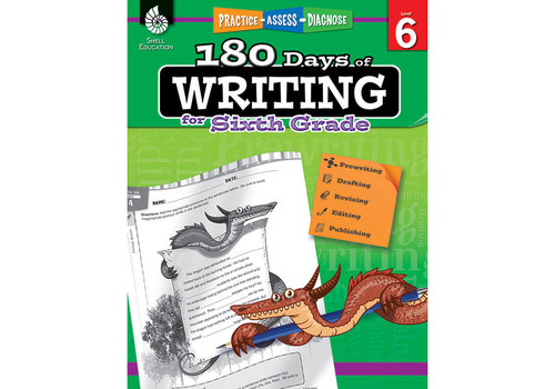 SHELL EDUCATION 180 Days of Writing, Grade 6