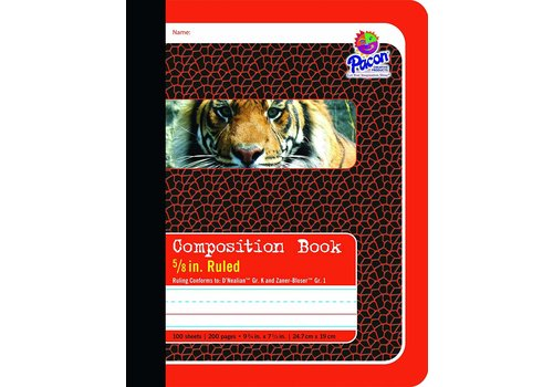 "PACON Composition Book, Full Rule 5/8"" RED"
