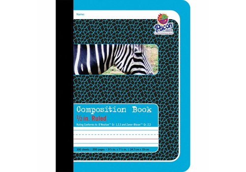 PACON Primary Junior Ruled Composition Book - BLUE
