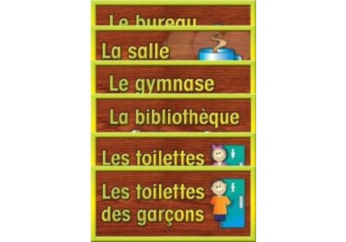 POSTER PALS School Room Sign Set - French
