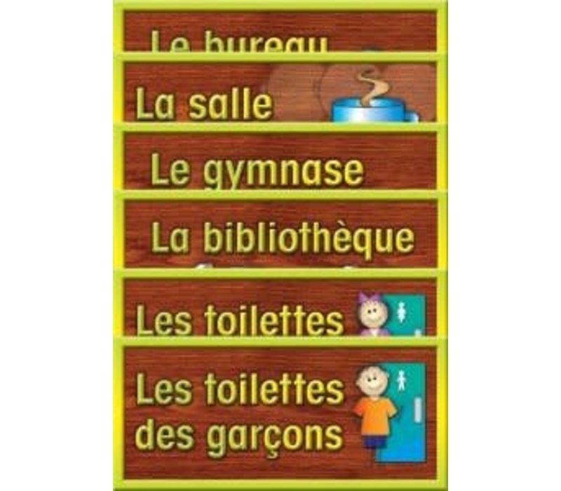 School Room Sign Set - French