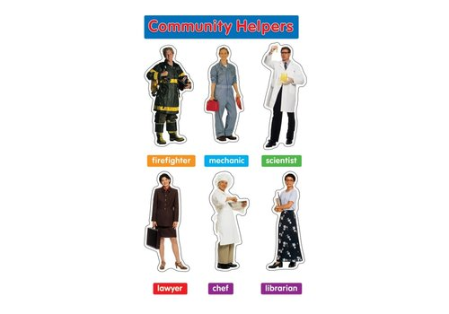 Carson Dellosa Photographic Community Helpers Mini BBS, Grade PK-2