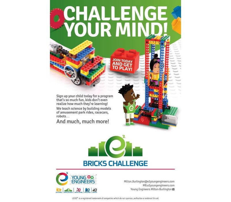 Bricks Challenge and Galileo (ages 6-14) -Tuesdays 6-7 pm